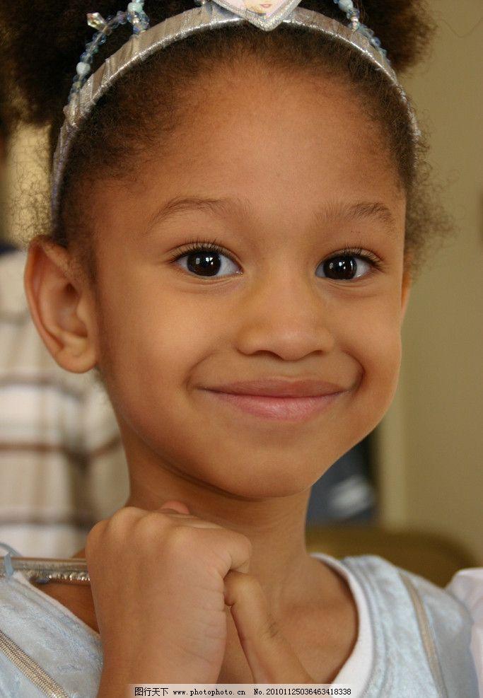 小女孩 漂亮女孩 女孩子 外国儿童 写真 可爱小孩 儿童 非洲女孩 儿童