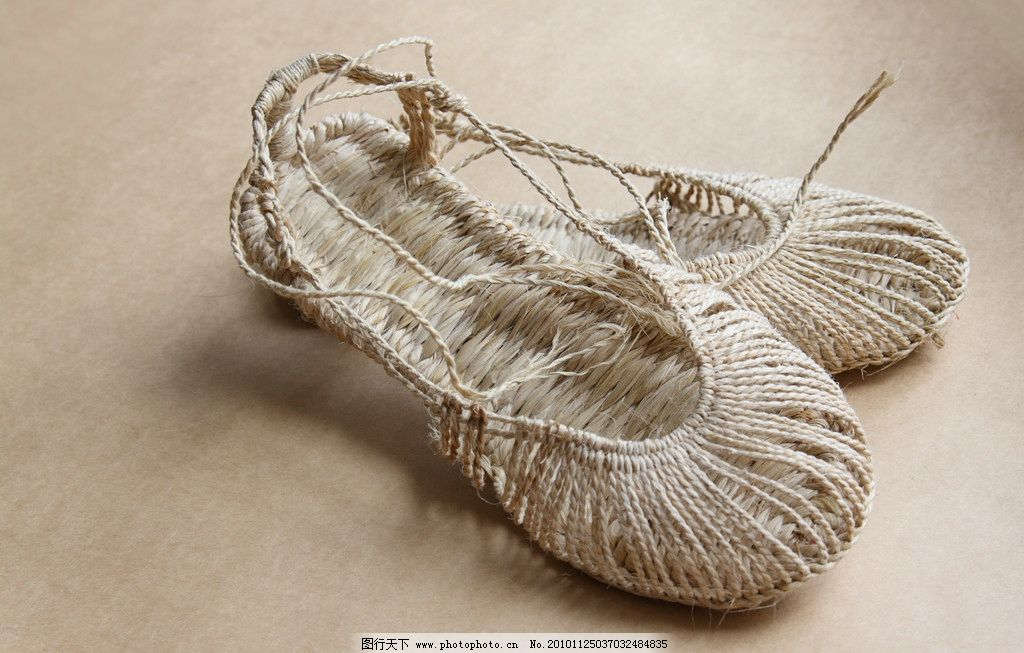 手工草鞋 麻 编织 工艺 精致 传统 男鞋 生活素材 摄影
