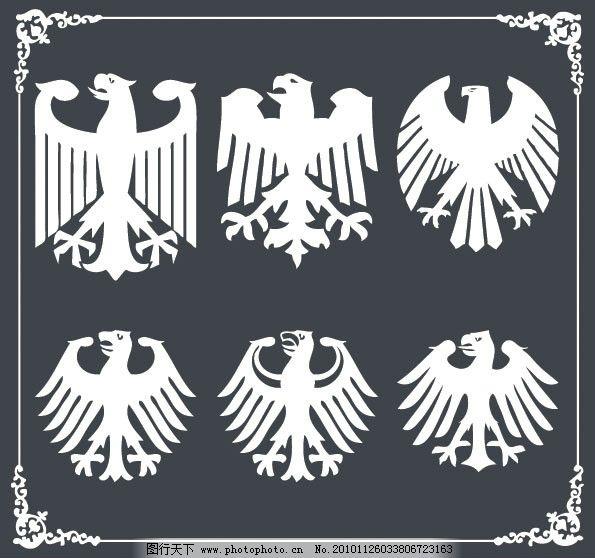 老鹰纹章矢量素材 老鹰 纹章 鹰 勋章 徽章 军队 荣誉 军衔 纹样 花纹