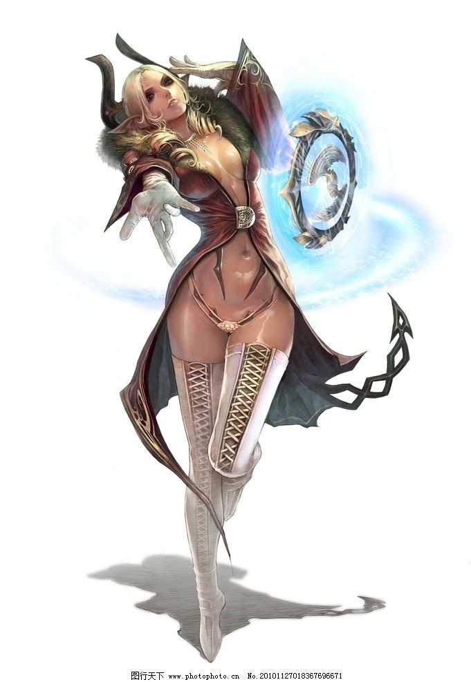 美女角色 网络游戏 网络角色 手绘角色 游戏角色 游戏设定 游戏原画