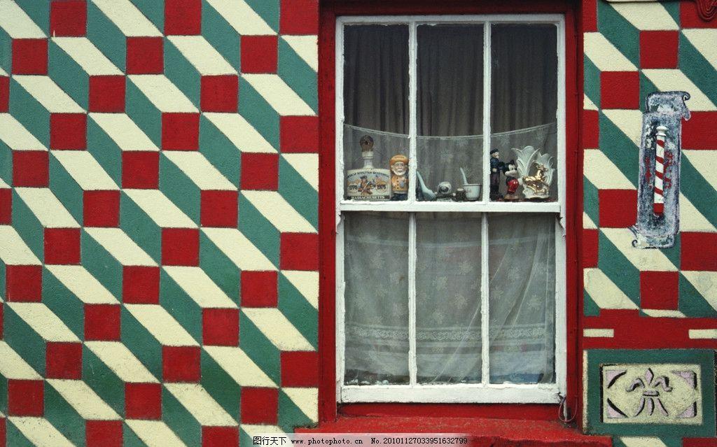 视觉 立体 窗户 红色 透视 房子 摄影 国内旅游 旅游摄影