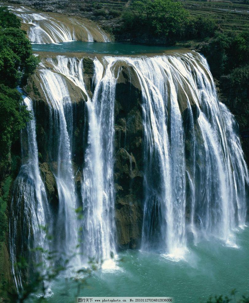 瀑布 高山瀑布 瀑布风景 风景 自然风景 自然景观 摄影 300dpi jpg