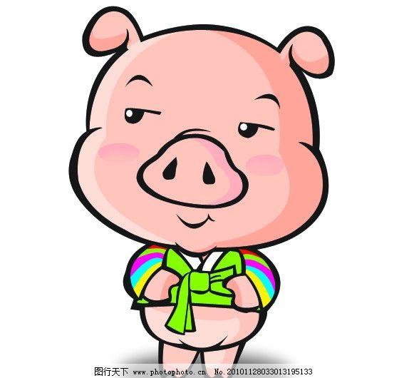 可爱猪图片
