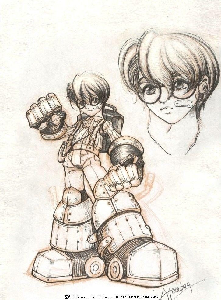 人设 动漫 游戏 手稿 铅笔 手绘 高清 动漫人物 动漫动画 设计 72dpi