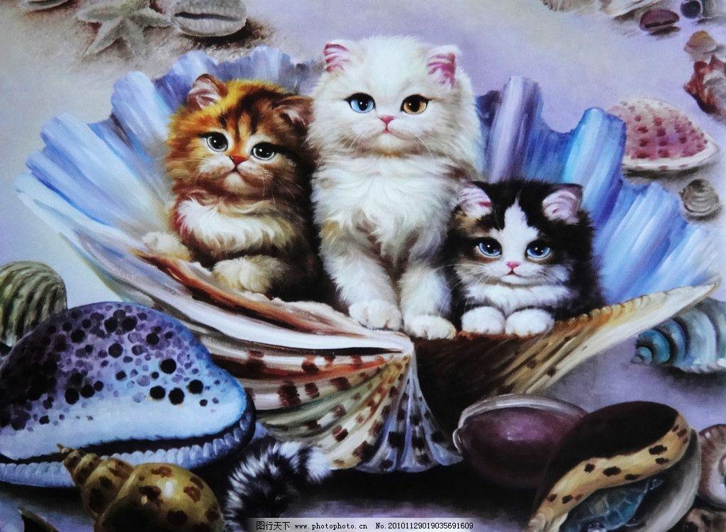 小猫图片_绘画书法_文化艺术_图行天下图库