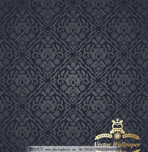 花边 墙纸 布纹 欧式 底纹 皇冠 边框 时尚 传统 古典 怀旧 线条 金色