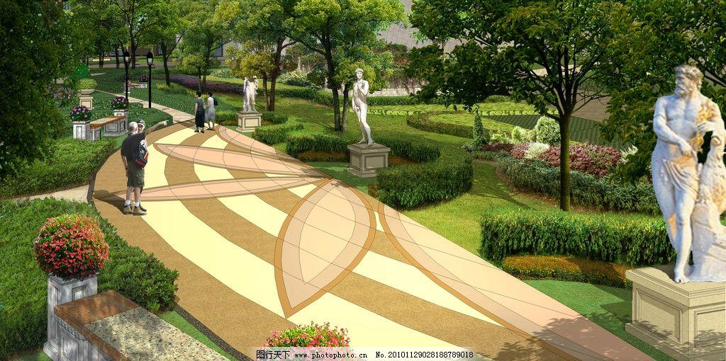 小区休闲景观 雕塑广场 景观设计 环境设计 设计 72dpi jpg