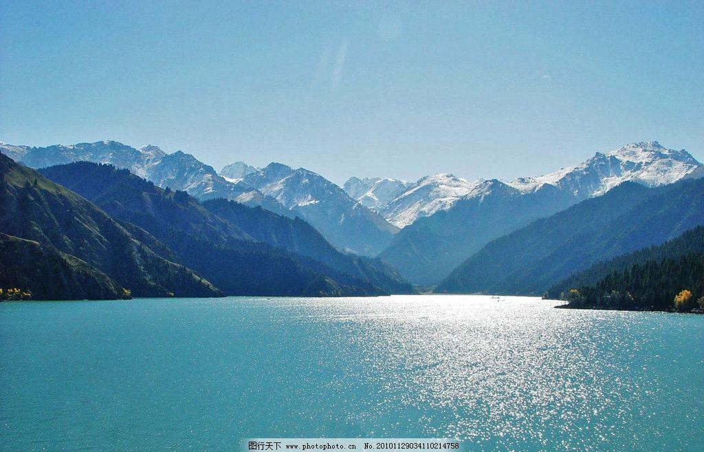 新疆天山天池图片_自然风景_旅游摄影_图行天下图库