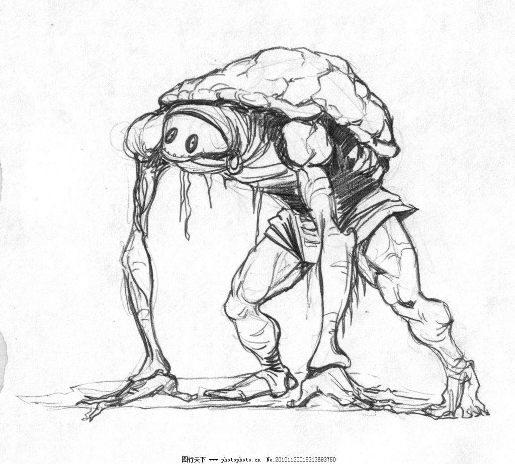 游戏人设 游戏 人设 手绘 动漫 怪物 乌龟 动漫人物 动漫动画 设计 72