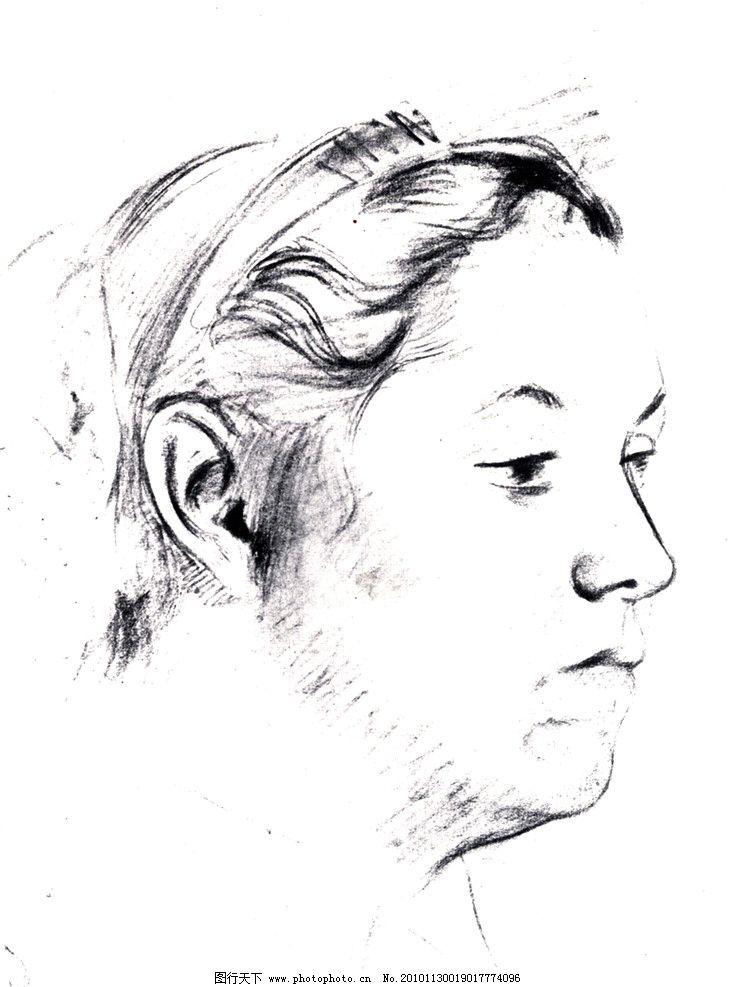 素描      肖像 人物 老外 线描 线稿 线条 人头像 大师作品 大师范画