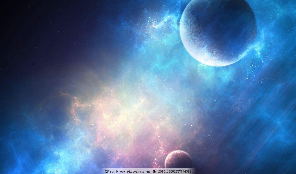 银河 地球 设计 壁纸 彩色