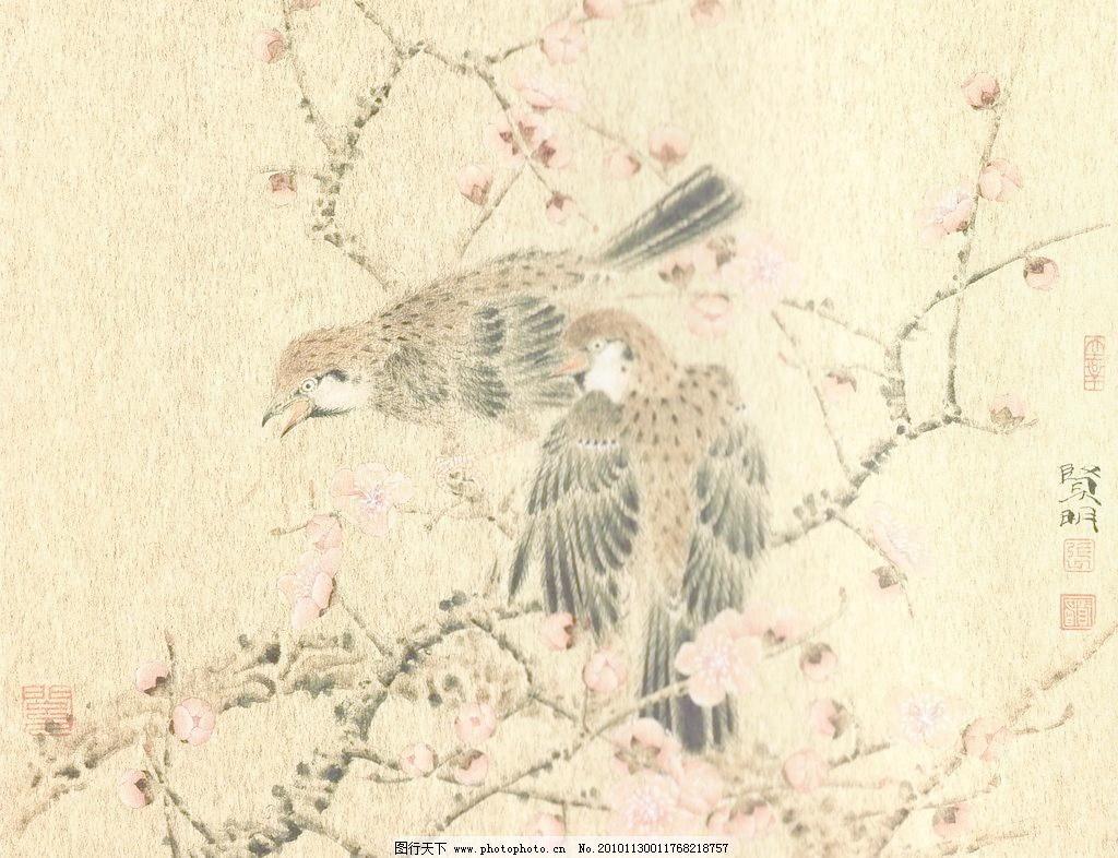 暖风 工笔画 线描 国画 中国画 植物 树木 大师作品 风景画 工笔画