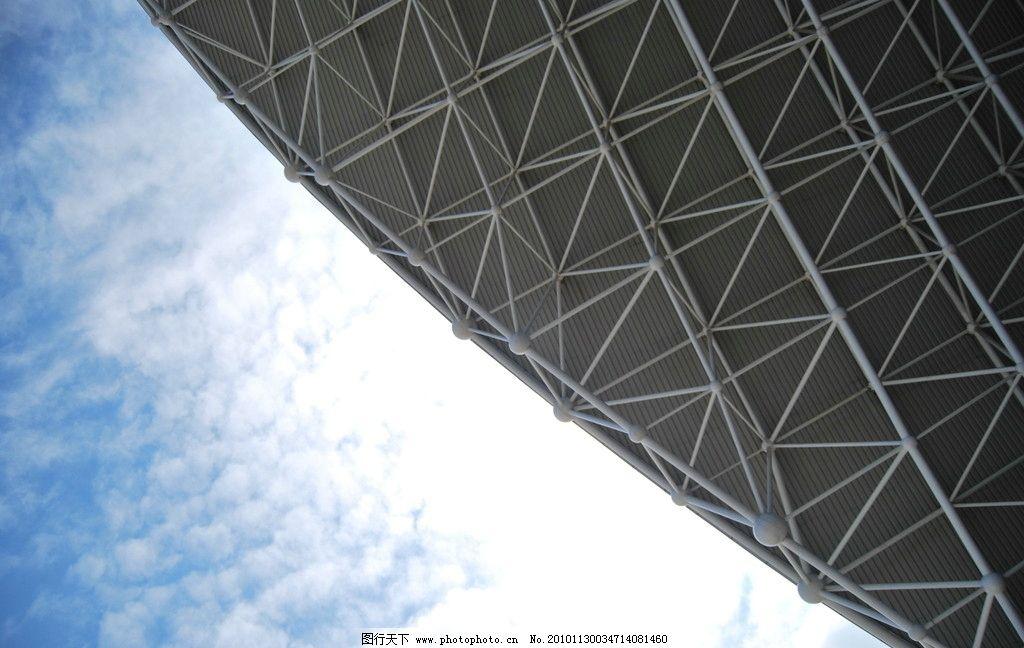 蓝天白云钢结构图片