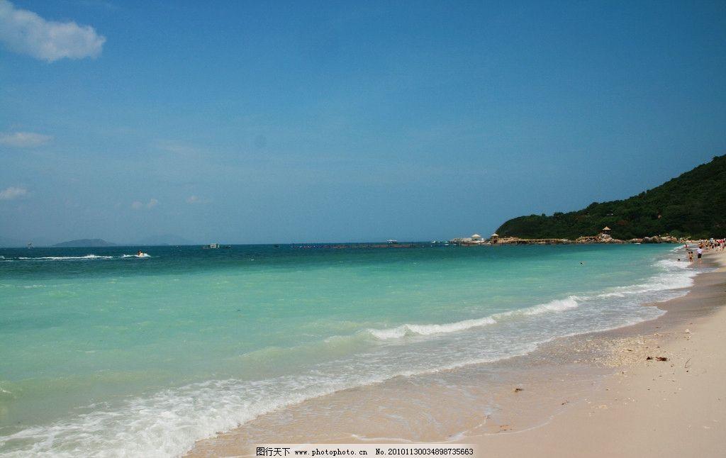 海滩 三亚 大海 沙滩 蓝色 蓝天 晴朗 自然风景 自然景观 摄影