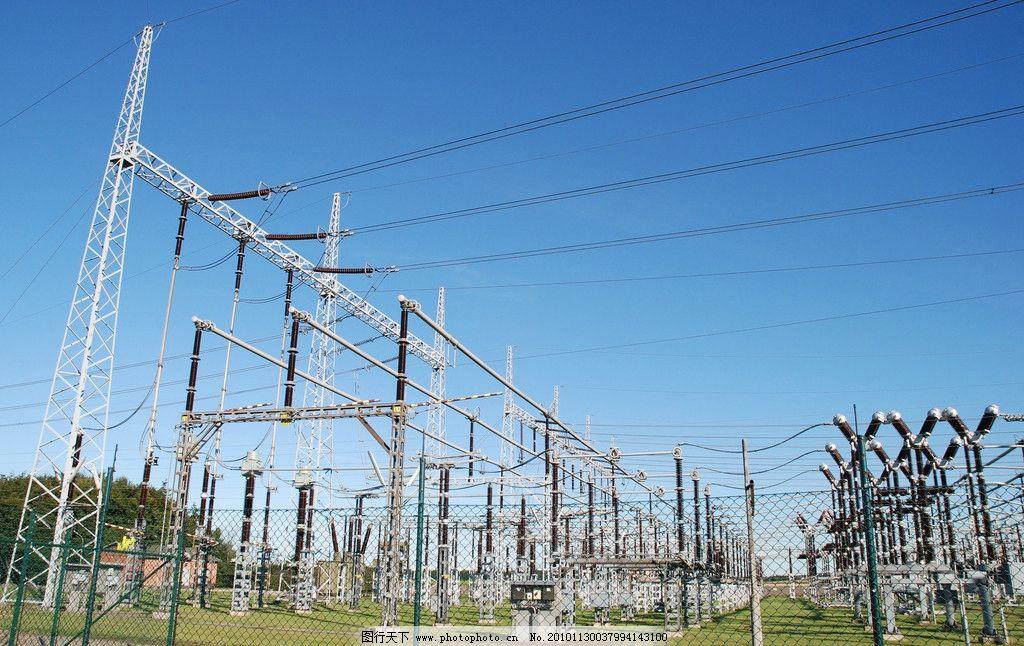 变电站 变电所 变电 高压变电站 电力 工业 电线 输变电 背景 电网 国图片