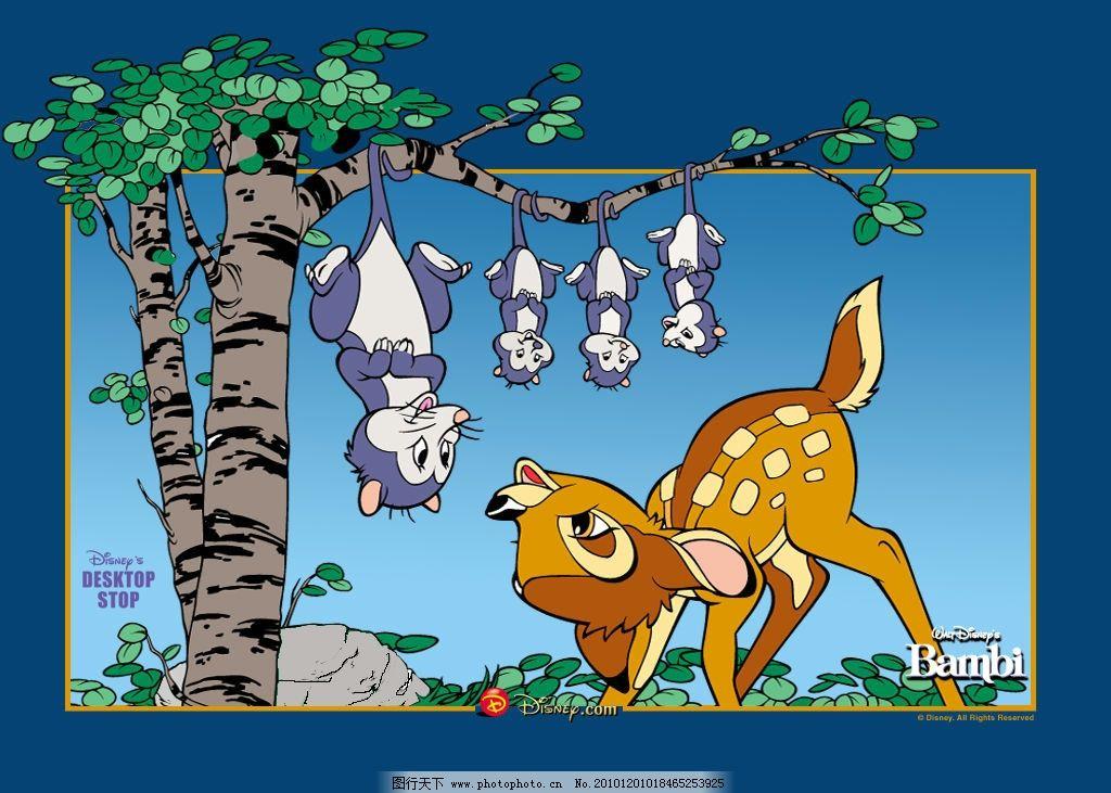 卡通背景 可爱 卡通 梅花鹿
