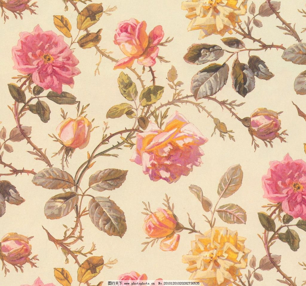 背景花纹 墙纸 桌面 陶瓷 满花 时尚 花面 欧式 底纹