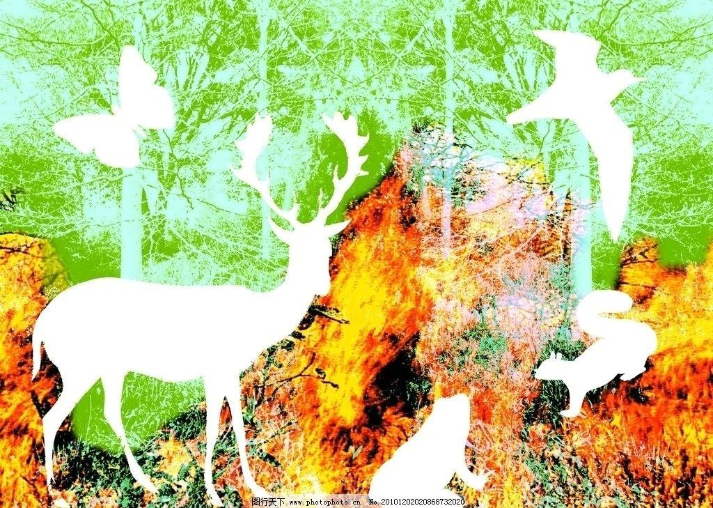 动物主题环境边框