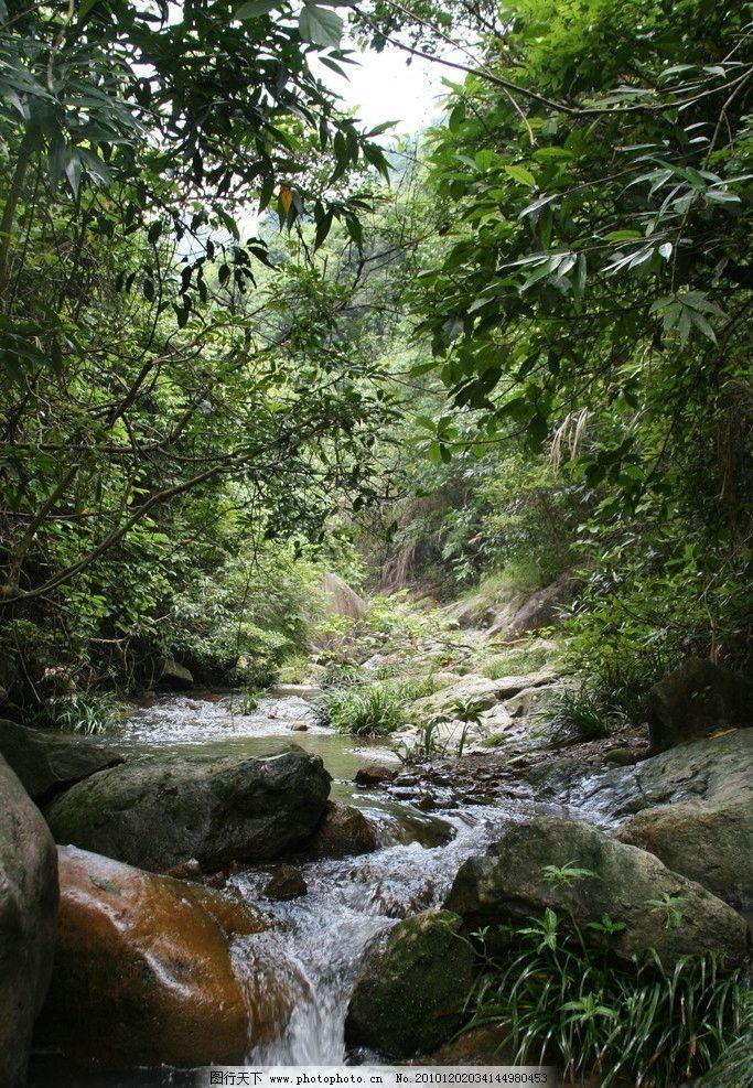 山水 小溪 树木 岩石 流水 蝴蝶谷 自然风景 旅游摄影 摄影 72dpi jpg