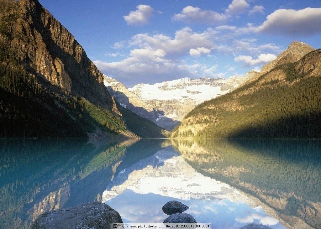 山水湖泊 风景 石头 湖水 倒影 山峰 天空 自然风景 旅游摄影