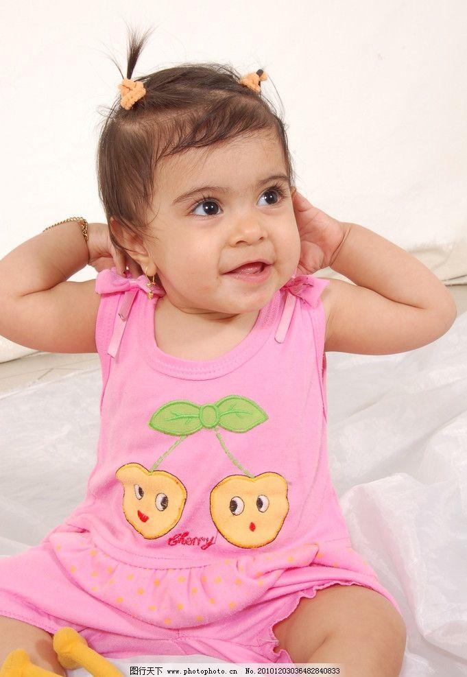 女孩子 外国儿童 写真 可爱小孩 儿童 快乐女孩 婴儿 宝宝 大眼睛 小