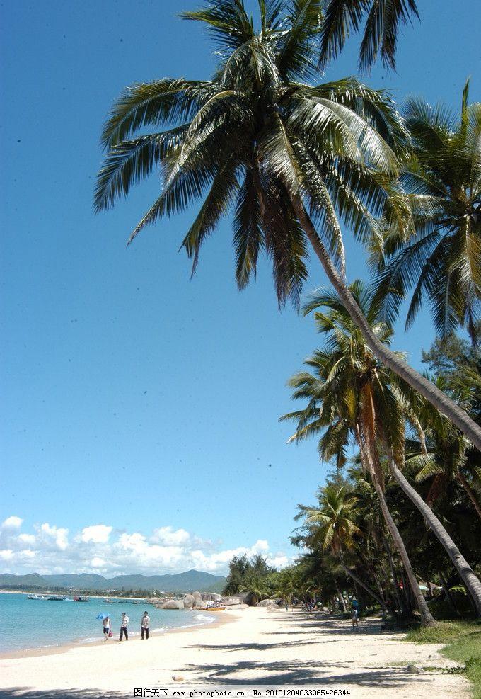 风景 大海 白云 蓝天 海边 海浪 沙滩 椰子树 椰岛 椰林 国内旅游