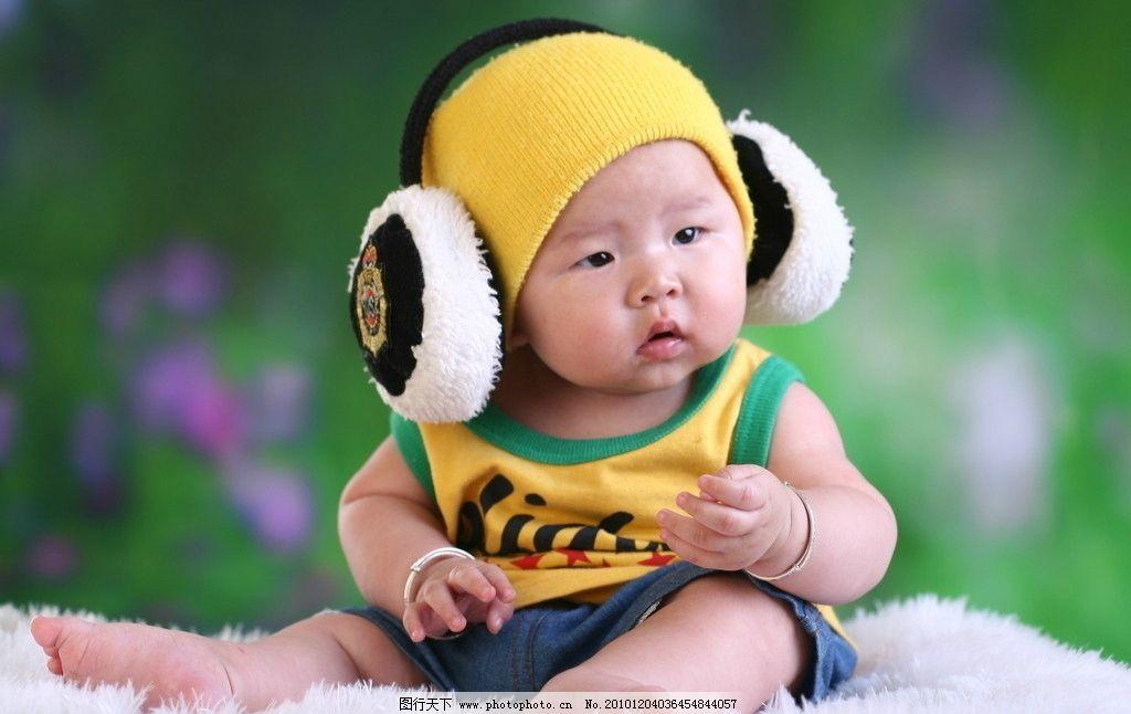 百天宝宝 运动装宝宝 戴银手镯的宝宝 坐着的小可爱 好奇宝宝 胖胖