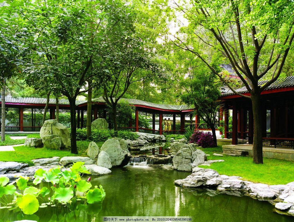 建筑园林 园林建筑  景观设计 别墅景观 别墅设计 庭院 梁志天 水池