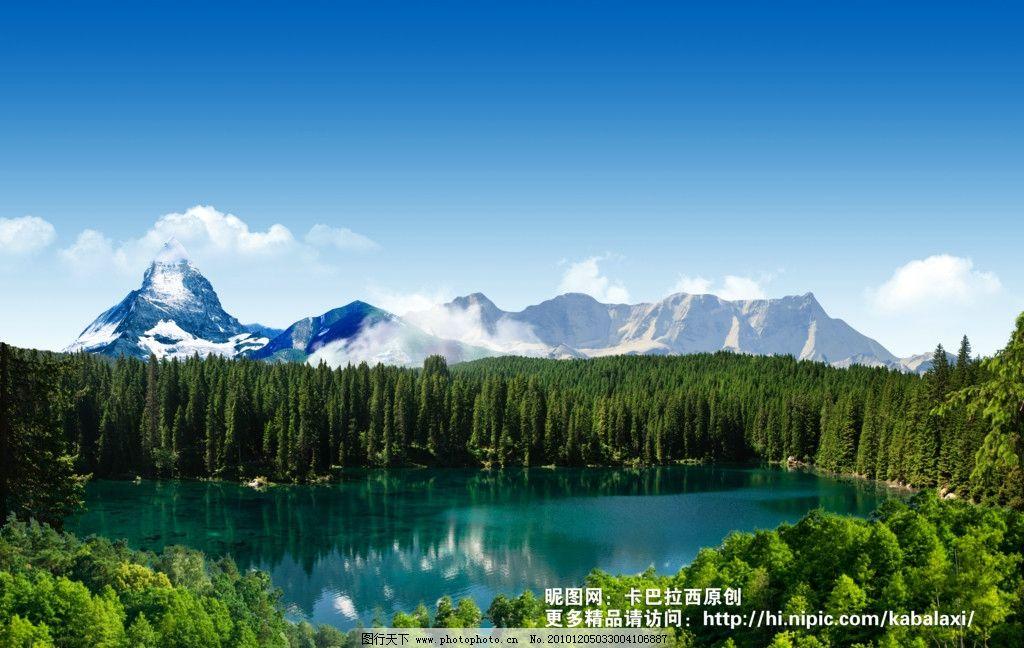 风景 美丽景色 风景如画 山水画 绿色环保 自然景色 春天 活力