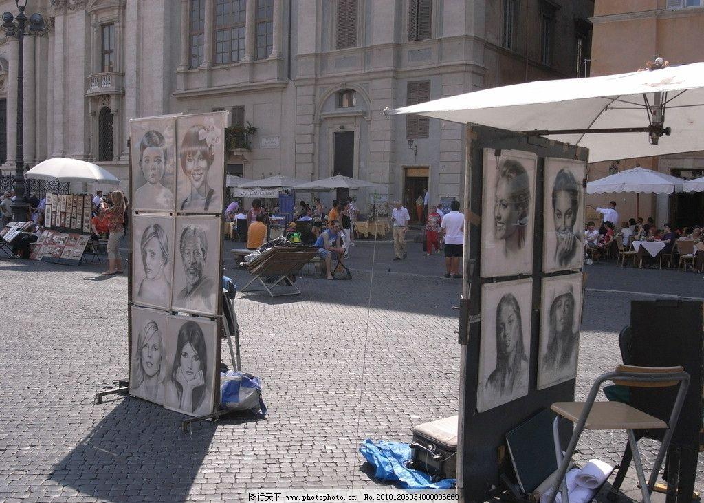 意大利 欧式 素描 绘画 手绘