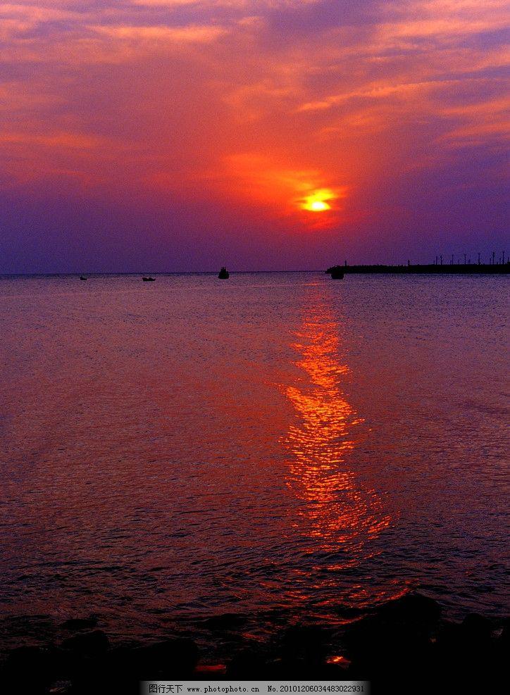海面日出 海面 海天 山水风景 自然景观 摄影 300dpi jpg