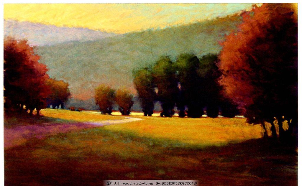油画风景 抽象油画 山水画 秋天风光 外国风景油画
