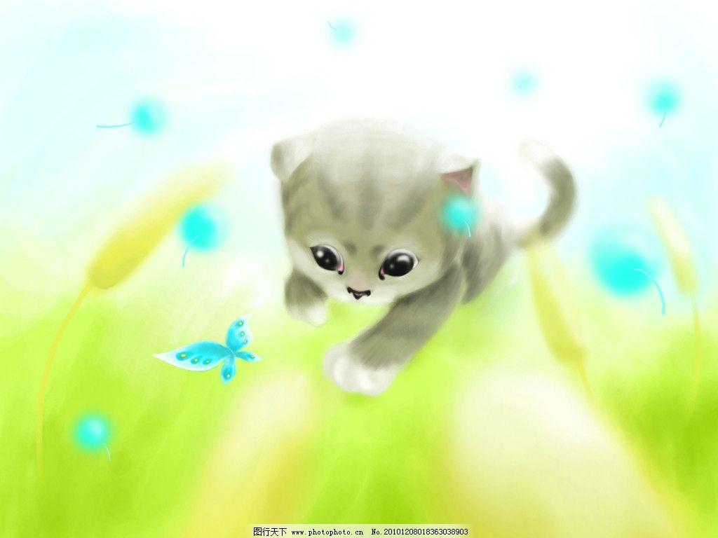 小猫 猫 卡通 动漫 动画动物 动漫人物 动漫动画 设计 300dpi jpg