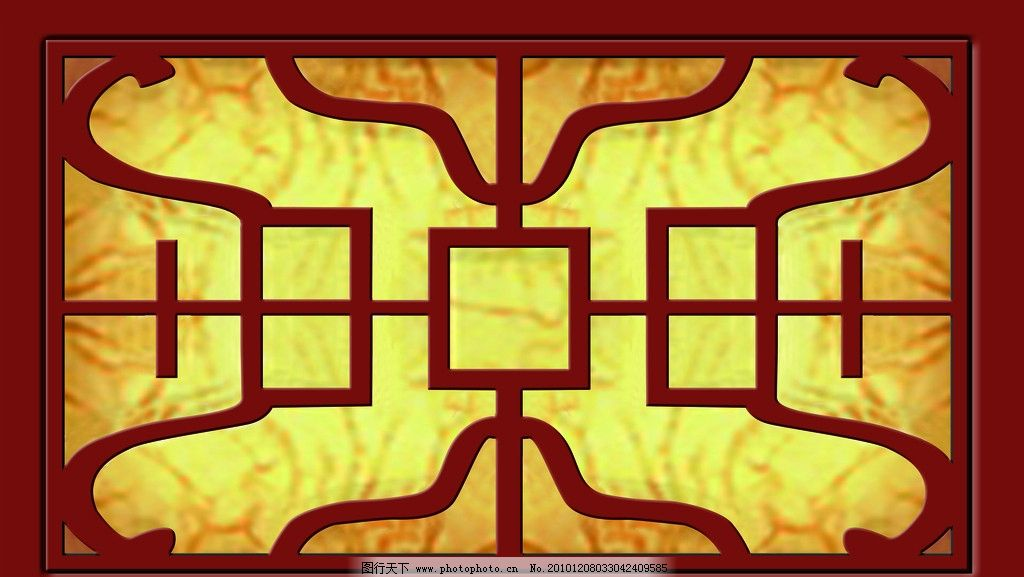 边框素材 边框 传统 海报 窗户 窗花 边花 窗户模板 psd分层素材 源