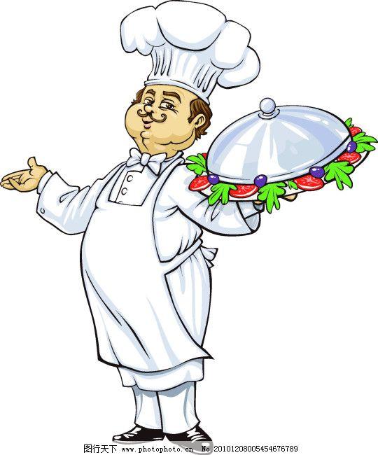 中餐厨师矢量图