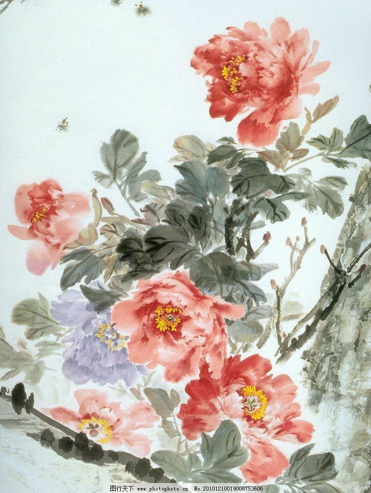 国画牡丹 水墨画 水彩 手绘 绘画书法 文化艺术