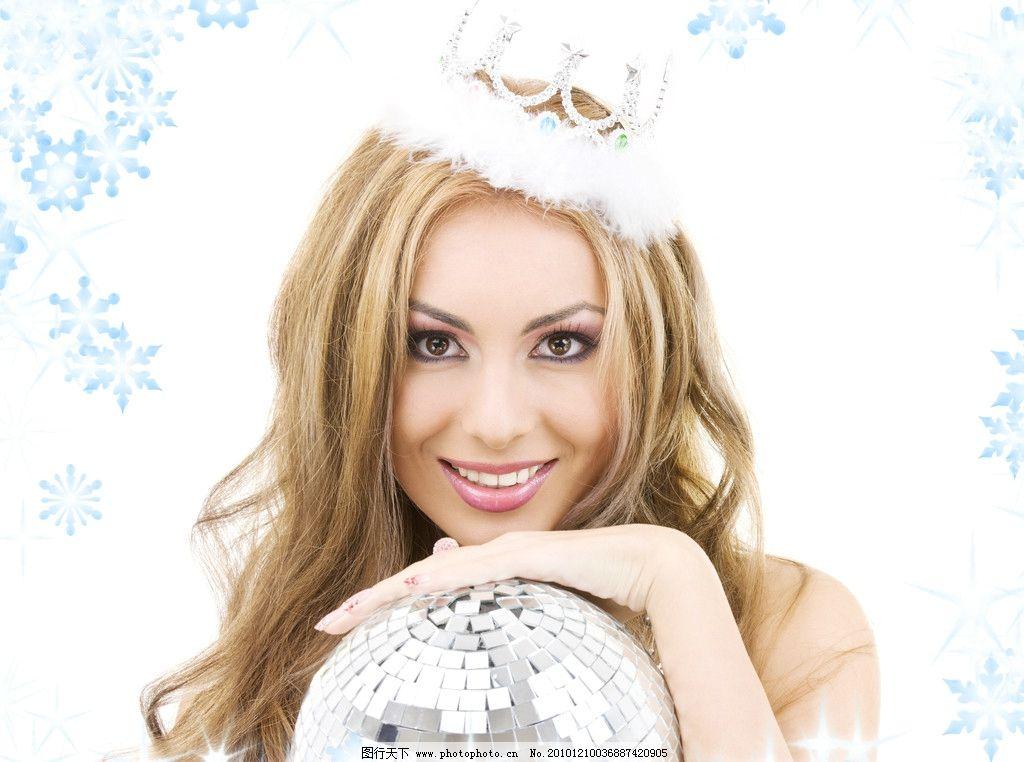 皇冠美女图片