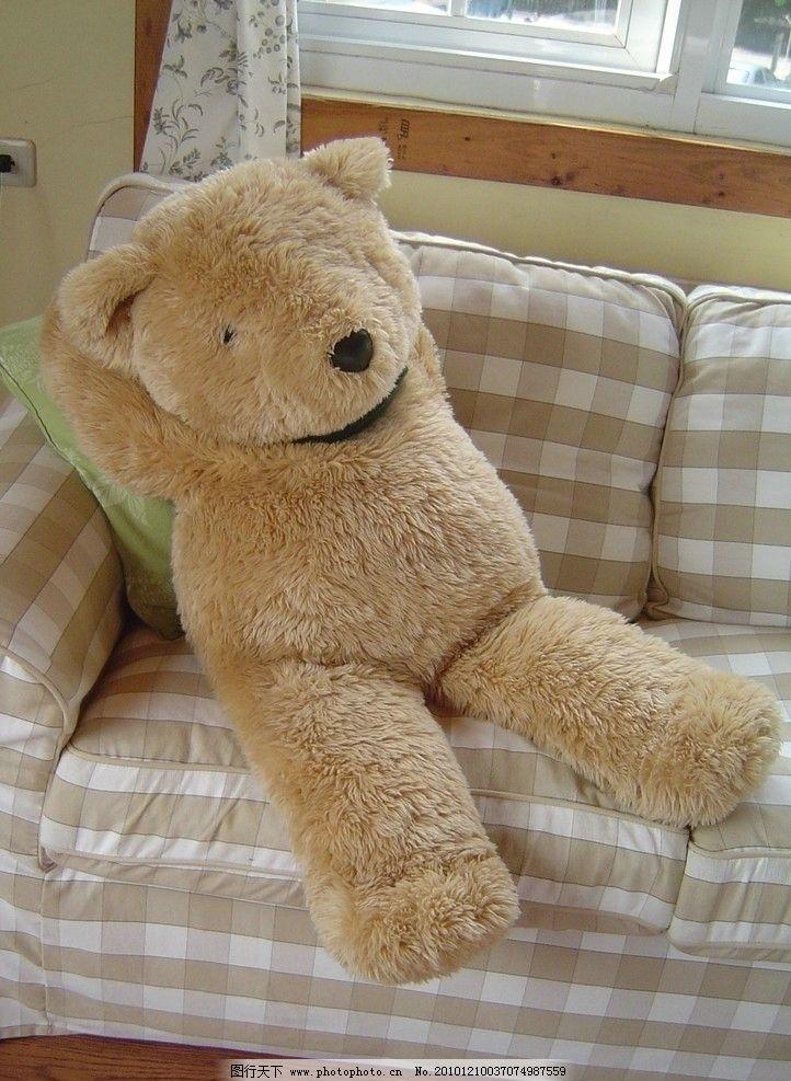 可爱小熊 小熊 娃娃 慵懒 椅子 沙发 可爱 生活素材 生活百科 摄影 72