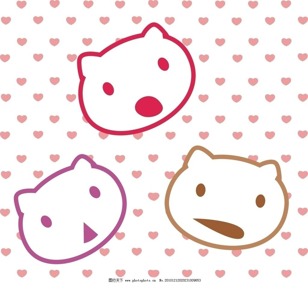 表情 猫 底纹图片