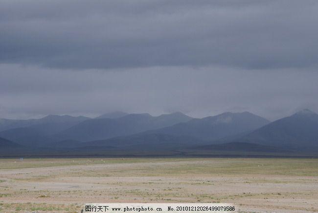 西藏风景 西藏风景免费下载 雾 雾气 远山 雾蔼 阴沉的天空 图片素材