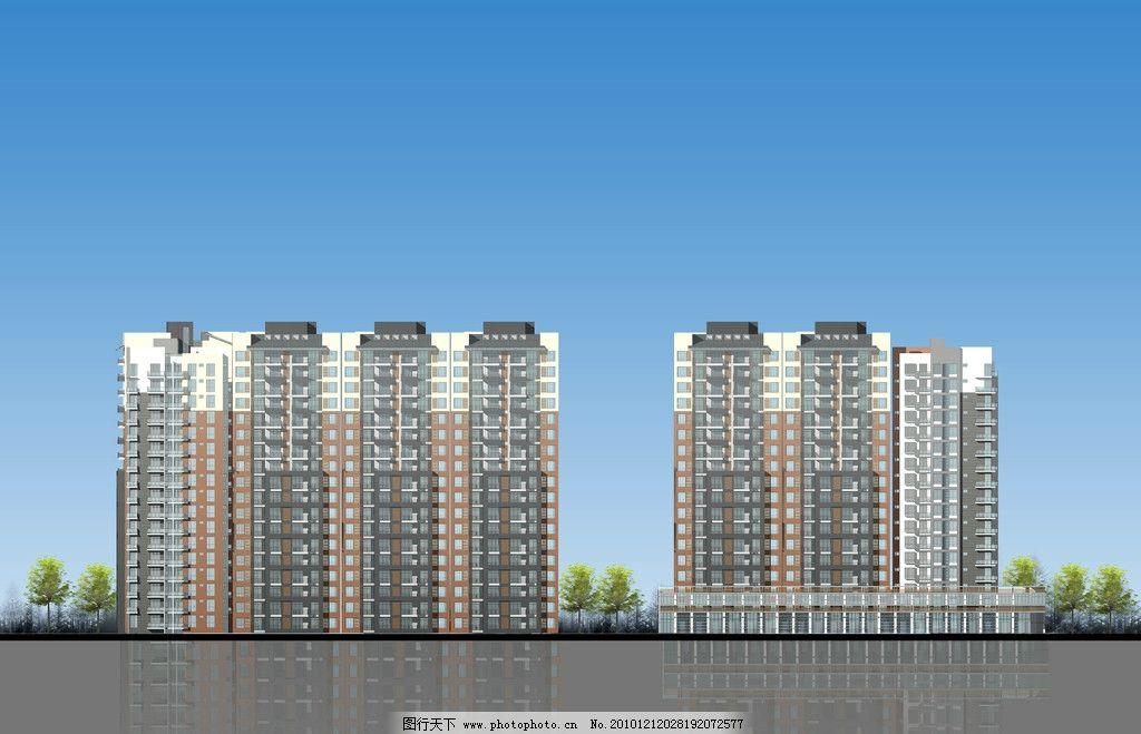 立面图 小区立面 建筑立面图 楼房 建筑        景观设计 环境设计