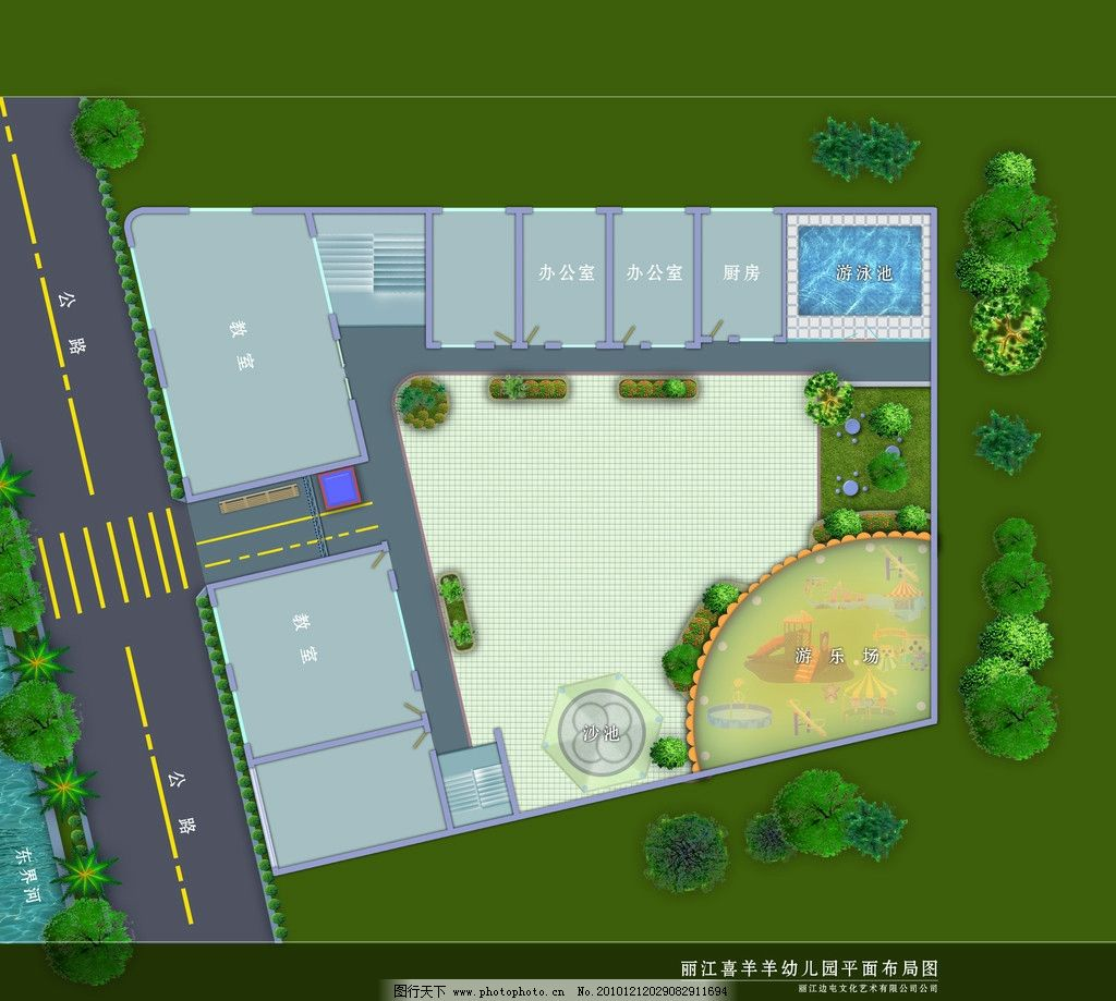 幼儿园平面布局图图片_其他_环境设计_图行天下图库