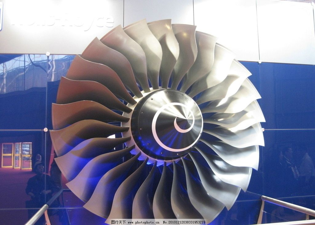 涡轮机_涡轮发动机矢量图_亿库素材网