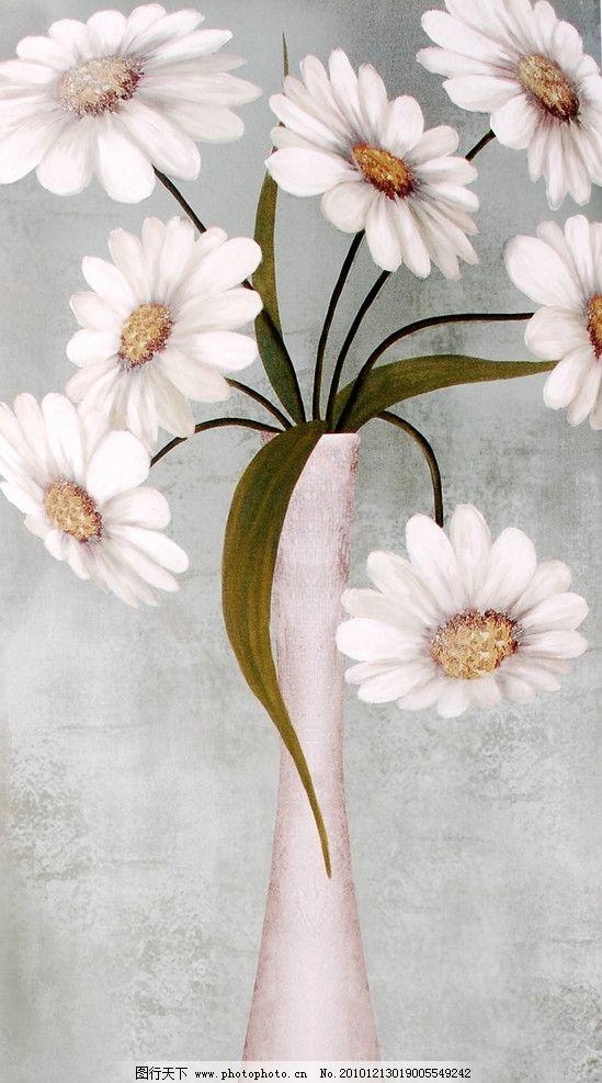 油画 雏菊 画芯 花 手绘花