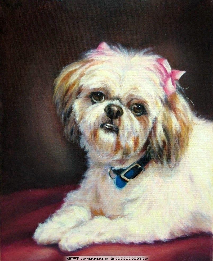 母狗油画 母狗 动物 小狗 油画 绘画 美术 绘画书法 文化艺术 设计