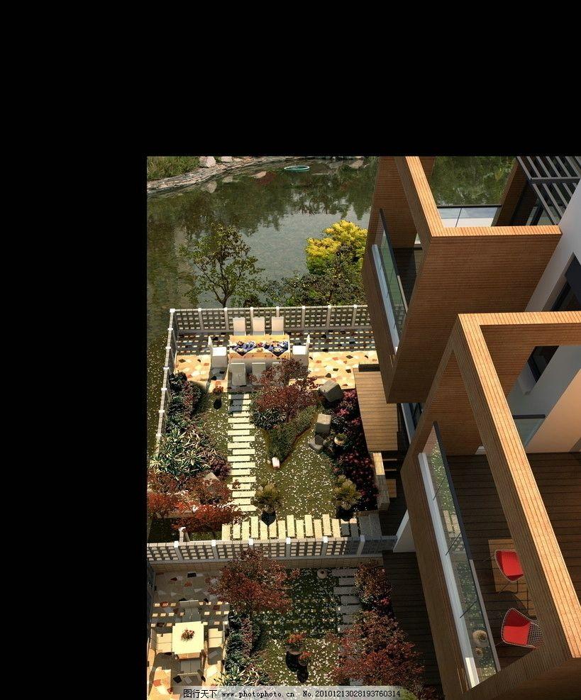 高清小花园效果图图片
