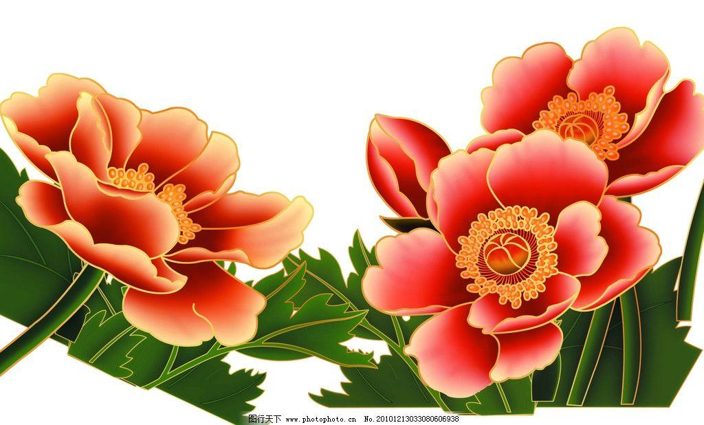 吉祥如意 月饼底纹 包装设计 中秋素材 节日素材 中秋节 月饼 牡丹花