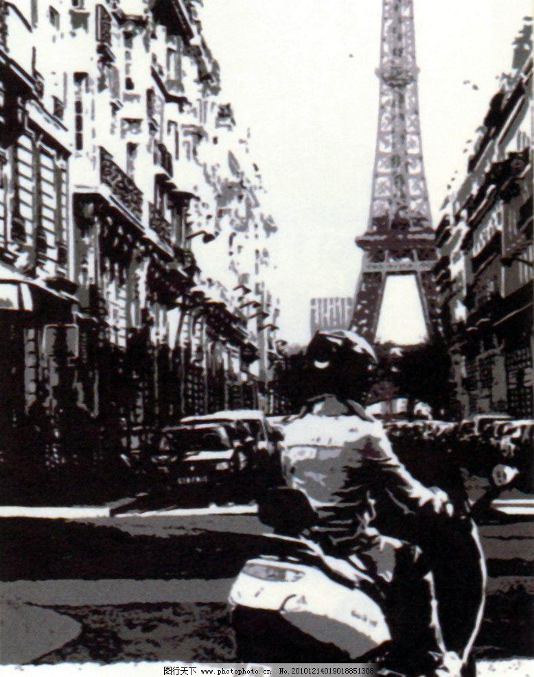 进口画芯 风景 建筑 欧洲风景 巴黎铁塔 欧美画芯 绘画书法 文化艺术
