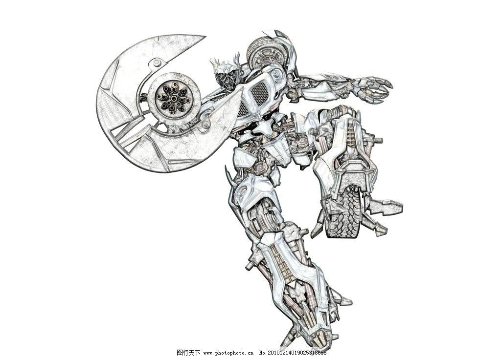 彩铅笔 机器人 变形金刚 彩笔画 绘画书法 文化艺术 设计 300dpi jpg
