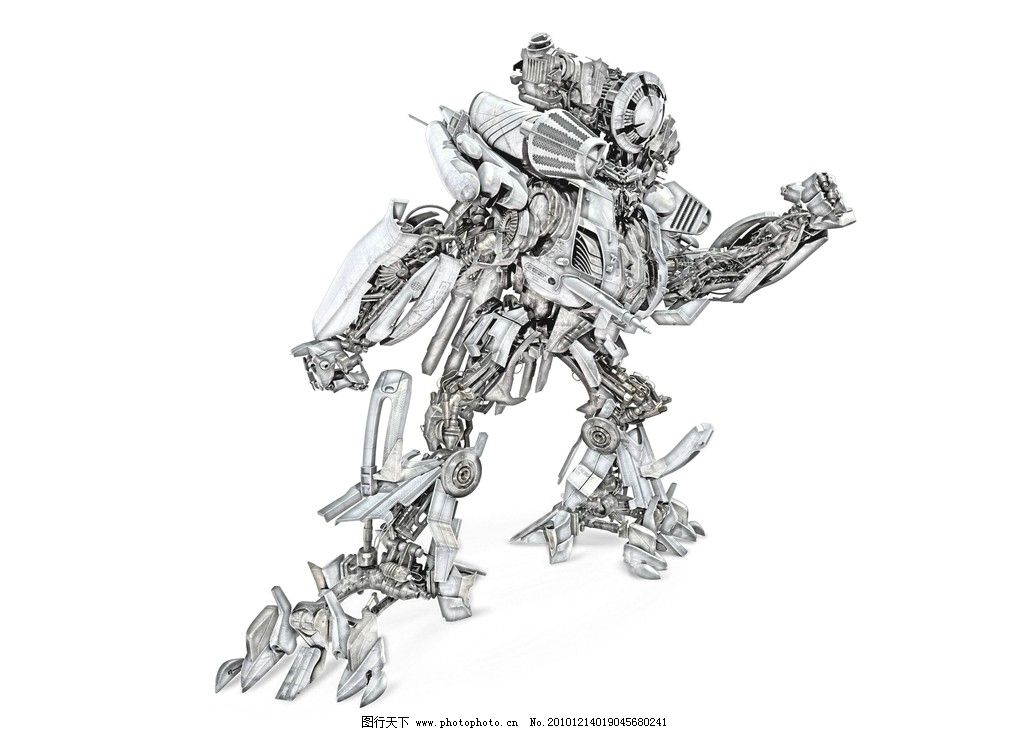 机器人 变形金刚 彩笔画